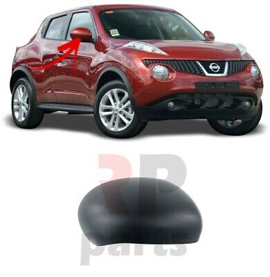 FOR NISSAN JUKE 2010-2014 NEW WING MIRROR COVER CAP BLACK PAIR SET