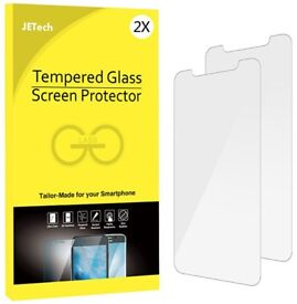 iPhone X Screen Protector, JETech 3-Pack Tempered Glass Screen Protector Film for Apple iPhone X/10