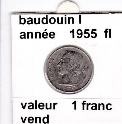 BF 3 )pieces de 1 francs  baudoui 1   1955  belgie &
