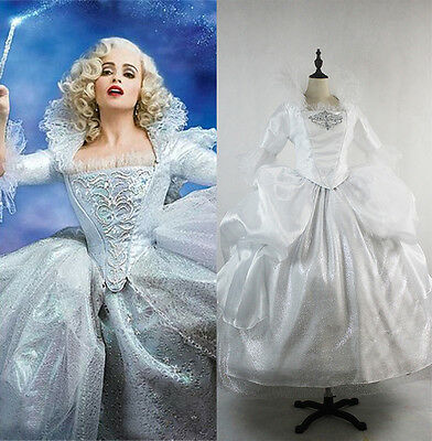 Fairy GodMother Adult Costume Movie Cinderella Cosplay Dress Halloween Custom](Fairy Godmother Halloween)