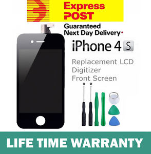 iPhone-4S-Replacement-LCD-Digitizer-Front-Screen-Assembly-Panel-Tools-Black