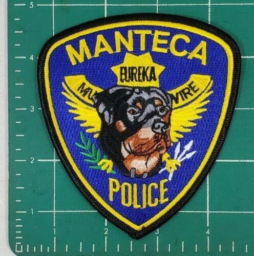 MANTECA CA. CALIFORNIA K9 POLICE ROTTWEILER SHOULDER PATCH
