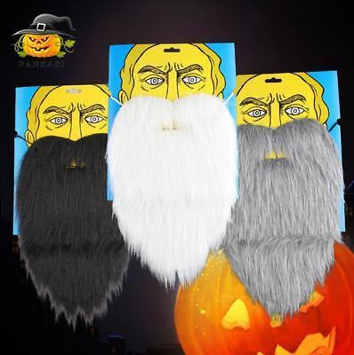 Beard Costumes Halloween (Long Fake Beard Facial Hair Costume Party Halloween Fancy Dress False)