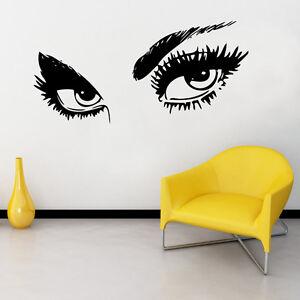 giant woman eyes vinyl wall art sticker salon bedroom