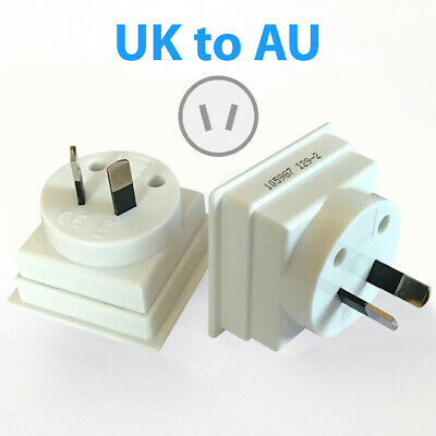 4 x UK to AU Aus Australia Australian New Zealand Travel Plug Adapter Adaptor