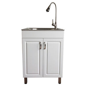 Laundry/Utility Sink w/cabinet and tap