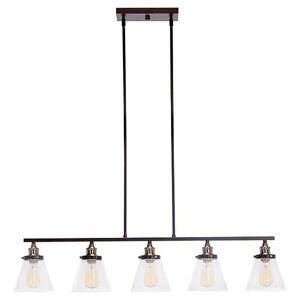 LUMINAIRE à 5 lumières GLOBE « Vintage » NEUF