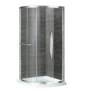 Glass Shower Door Kit with Base