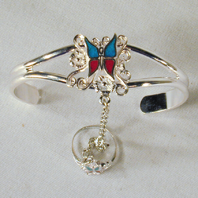 fancy BUTTERFLY SLAVE BRACELET #17 chain new RING NEW ladies womens jewelry set