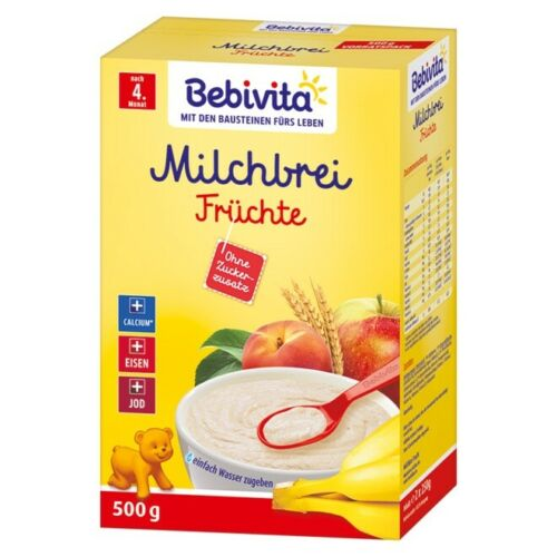 Bebivita milk porridge FRUIT Babies -from 4 months-FREE SHIPPING