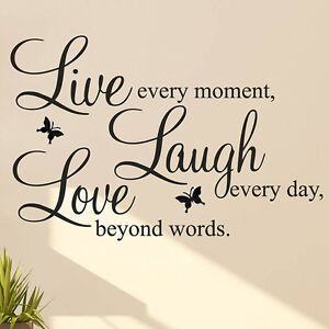 LIVE LAUGH LOVE Quote Vinyl Decal Removable Art Wall Stickers Home Room Decor