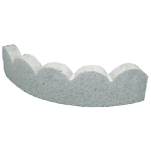 Curved decorative edge. Made of concrete. 24x6x2 in. Natural.