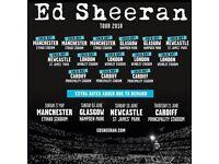 2 x Ed Sheeran standing tickets, Hampden Park, Glasgow, Friday 1st June