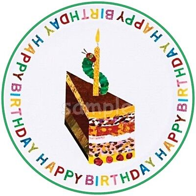 Die kleine Raupe Nimmersatt Eßbar Tortenaufleger NEU Party Deko Geburtstag Buch ()