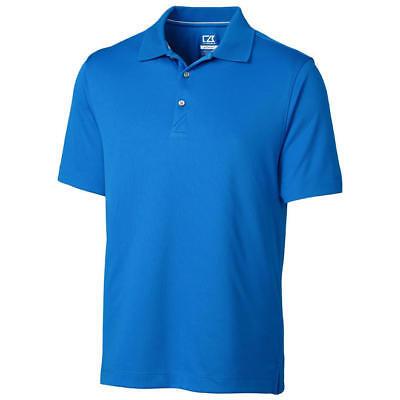 NWT CUTTER & BUCK Blue Mens Golf Polo CB DryTec Moisture Wicking S-XXL  ()