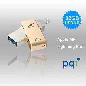 PQI iConnect Mini 6I04-032GR2001 Gold [Apple MFi] 32 GB Mobile Fl Melbourne CBD Melbourne City Preview