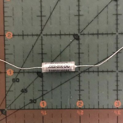 Sprague Axial Film Capacitor .022uf 200v 118p22392s4 Audio Vitamin Q New 0.022uf