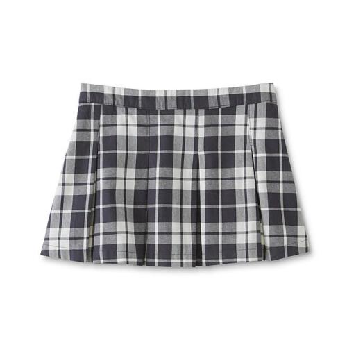 Girls Reg & Plus, pleated skirt -  Black & white