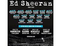 4 x Ed Sheeran standing tickets, Principality Stadium Cardiff, Saturday 23rd June 2018