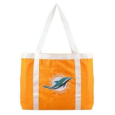 Miami Dolphins Tailgate Canvas Tote Shoulder Bag Purse NFL Nfl Canvas Tailgate Tote