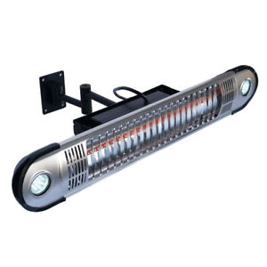 Infrared Wall Mounted Patio Heater with LED Lights