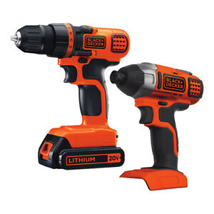 Brand new 20V MAX Lithium Ion drill and impact driver set