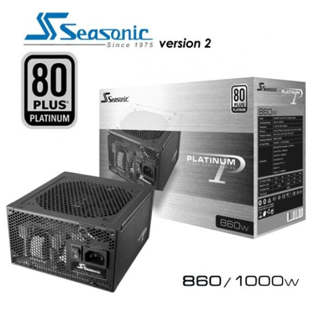 Seasonic 860W 80 PLUS PLATINUM Certified Modular Active PFC ATX for Intel AMD