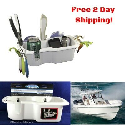 Cockpit Organizer (Boat Marine Cockpit Storage Organizer Caddy Drink Cup Phone Fishing Lures)