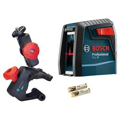 Bosch Professional Self-leveling Cross-line Laser Level W Mount Gll30 Fast T18