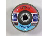 8£box Flap discs 115 4,5' Grit 36, 40, 60, 80, 120 disc sander abrasive angle grinder grinding wheel