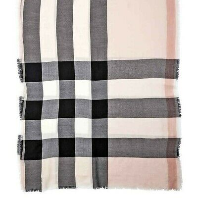 Burberry Lightweight Cashmere Scarf In Classic Check- Dusty Pink