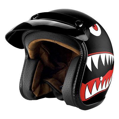 3/4 Open Face Motorcycle Helmet w/ Sun Visor Matte Finish - DOT Approved Helmet ()