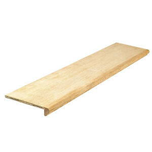 """42"""" Oak veneer stair tread covers and finishing ends"""