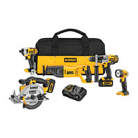 BRAND NEW DE WALT 5-Tool Kit - Lithium-Ion 20V Max (DCK590L2)