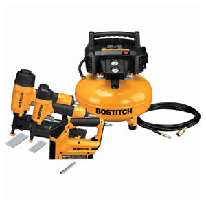 NEW , Steel Compressor, Nailers and Stapler Yellow and Black
