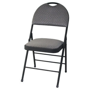 ★ Ens. 2 chaises pliantes rembourrées de qualité commerciale ★