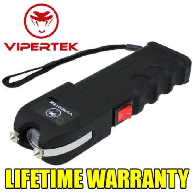VIPERTEK MAX High Voltage Self Defense StunGun Rechargeable with LED Light