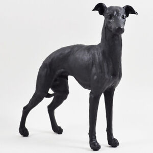 LARGE BRONZE PAINTED RESIN GREYHOUND SCULPTURE STATUE FIGURE DOG NEW BOXED 39412