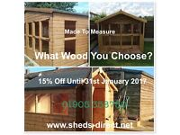 Sheds, bike stores, summerhouse, children's playhouses