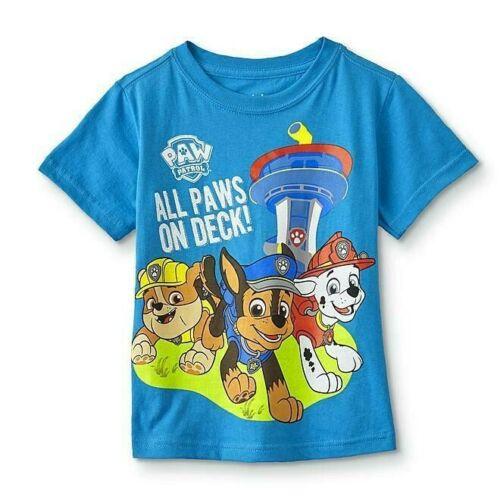 Paw Patrol Boy Tee Shirt Toddler Boys Birthday Short Sleeve Size 2T 3T 4T 5T New
