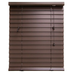 """NEW 2"""" Faux wood horizontal blinds (brown)"""