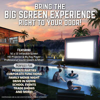 Okanagan Big Screen - giant inflatable movie screen for rent!