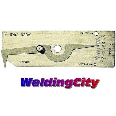 V-wac Welding Gauge Inspect Fillet Welds Inch Us Seller Fast Hg012