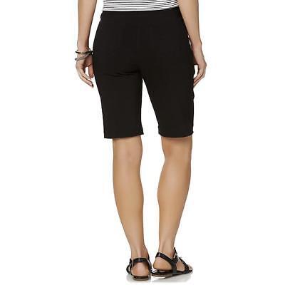 Women's Pull-On Millennium Bermuda Shorts Black Stretch Twill SML to -