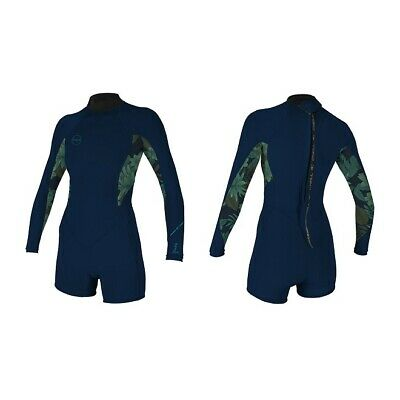 O'neill Bahia Short Spring Wetsuit 2/1 mm Ladies L/S shorty Wetsuit Abyss/Faro