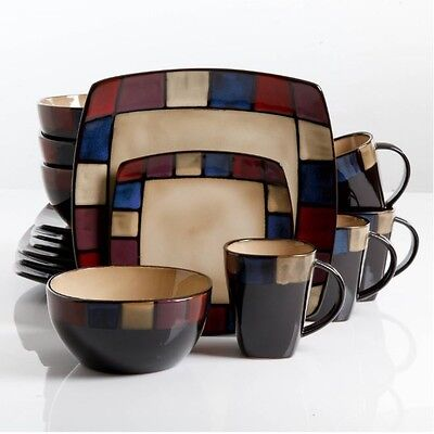 Dinnerware Set For 8 Stoneware Dinner Service 32 Piece Plates Bowls Mug - Discount Dinnerware