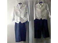 2 x boys 4 piece wedding suit