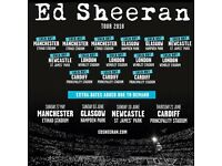 2 x standing Ed Sheeran tickets, Saturday 26th May, Etihad Stadium Manchester