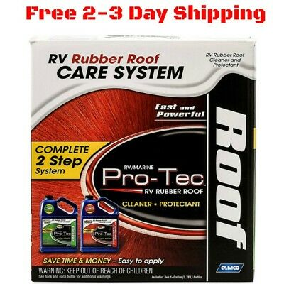 RV Roof Cleaner Repair Protectant Conditioner Trailer Camper Motorhome 2 Gallon