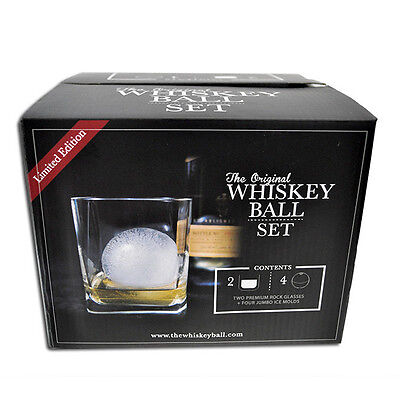 The Original Whiskey Ball Gift Set - Jumbo Silicone Ice Sphere Molds